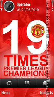 Manchester United 19 titles tema screenshot