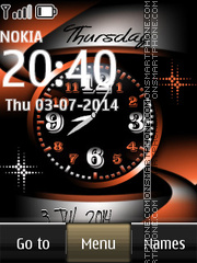 Nokia Abstract Dual Clock tema screenshot