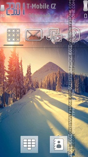Winter Sun 01 tema screenshot