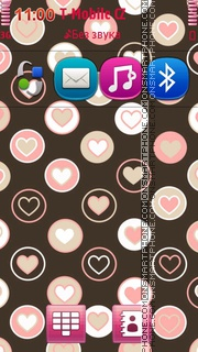 Pink Hearts 07 tema screenshot