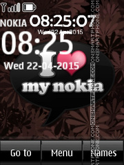I Love Nokia 01 tema screenshot
