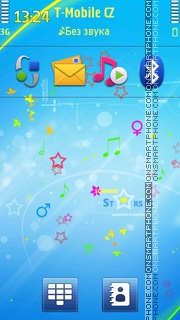 Summer Stars 01 tema screenshot