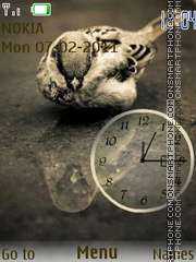 Sparrow clock tema screenshot